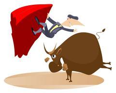 Bullfight Stock Illustration