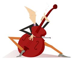Cellist - stock illustration