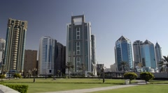 Al Itihad Park Sharjah UAE Stock Footage