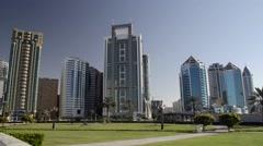 Al Itihad Park Sharjah UAE Stock Footage