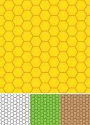 Bee cell shaped seamless pattern. Stock Illustration