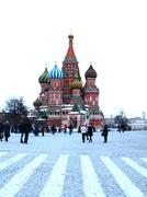 Saint Basil's Cathedral on Red square - stock photo
