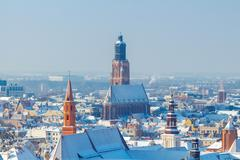 Wroclaw. View of the city from above Stock Photos