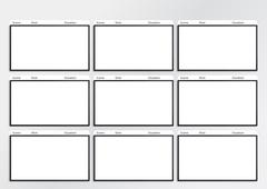 Stock Illustration of hdtv storyboard template 9 frame
