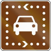 United States MUTCD guide road sign - Driving Tour - stock illustration