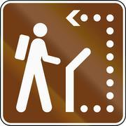 United States MUTCD guide road sign - Interpretive trail Stock Illustration