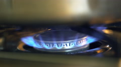 turning off the burner on a stove 4k - stock footage