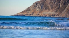 Lofoten beach Stock Footage