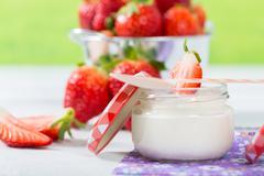 Stock Photo of Strawberry Yogurt