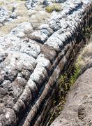 Large stone cracked Stock Photos