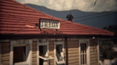 1937: Racial segregation bathroom for Colored people at railroad train station. - stock footage
