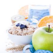 Morning healthy nutrition Stock Photos