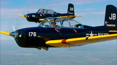 Beechcraft T-34 Mentor Stock Footage