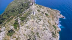 Gemiler Island Aerial View Stock Footage