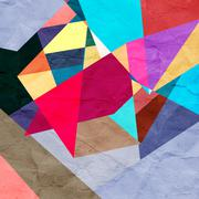 abstract watercolor geometric background - stock illustration