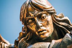 Close up of Statue Of Archangel Michael On Independence Square I Stock Photos