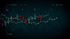 Stock Market Data Blue - stock footage