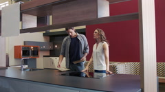 Designing a home together - stock footage