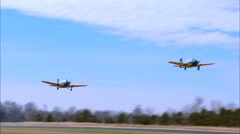 T-34Mentor Formation Take Off Stock Footage
