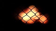 defocused burning fire - stock footage
