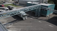 Cargo transport on the loading area Stock Footage