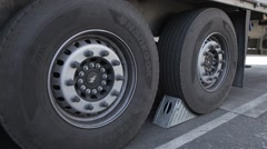 Unlock the wheels of the truck Stock Footage