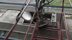 Tank truck loading rack Stock Footage