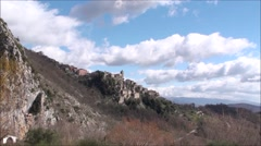 Castelnuovo small town in the province of isernia Stock Footage