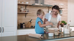 Preparing to bake together Stock Footage