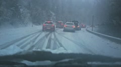ANDORRA - DECEMBER 22, 2014: traffic crash in snow mountains - stock footage