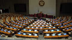 Stock Video Footage of The National Assembly of the Republic of Korea, politics, Seoul city