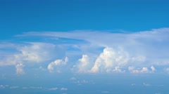 Airborne Perspective of Distant Storm Clouds. Video UltraHD Stock Footage