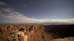 Stop motion photography in of a starry night of Pucker's Pass in Moab - stock footage