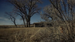 1800's homestead in Montana Stock Footage
