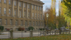 Faculty of Geography in Marka Marulica square, Zagreb Stock Footage