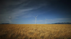 Wind turbines Dolly Stock Footage