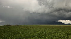 Lightning strike of mountain Stock Footage
