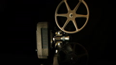 8mm film projector - Tilt Shift Stock Footage