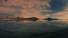 Reflection in the Bonneville, Salt Flats. Stock Footage