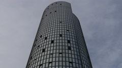 View of Cibona Tower in Zagreb, Croatia Stock Footage