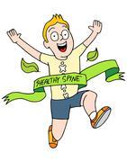 Healthy Spine Runner - stock illustration