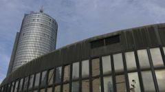 Drazen Petrovic Basketball Centre and Cibona tower in Zagreb Stock Footage