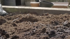 Damp Compost ready for growning Vegetables Stock Footage