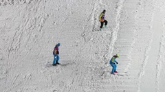 Freestyle Skiing World Cup in Moscow, Russia - stock footage