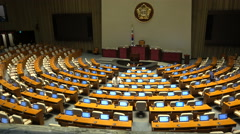 South Korea government, National Assembly Hall, politics, legislature, chamber Stock Footage