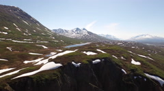 Mountain Highlands Aerial 4K Stock Footage