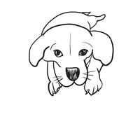 Doodle drawing of Beagle - stock illustration