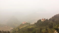 HD Time-lape, Beautiful floating fog at Sapa Vietnam. - stock footage
