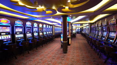 casino on the cruise ship. Anthem of the sea - stock footage