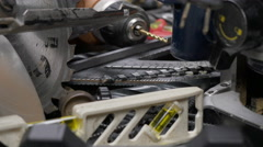POWER TOOL COLLECTION IN EXTREME CLOSE UP Stock Footage